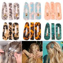 Nowy 3 sztuk/zestaw moda Leopard octan geometryczne spinki do włosów dla kobiet dziewczyn pałąk słodkie spinki Barrettes zestaw akcesoriów do włosów