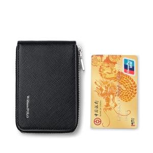Image 5 - WILLIAMPOLO עור כרטיס מחזיק גברים כרטיס אשראי ארנק עור פרה כרטיס רוכסן גברים של ארנק רוכסן ארנק גברים מטבע ארנק #185143