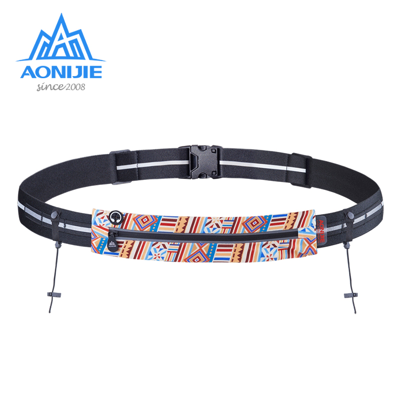 AONIJIE W966 Running Waist Bag Race Number Belt Phone Bib Holder Fanny Pack For Triathlon Marathon Cycling Travel Fitness Gym