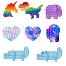 Ansiedade brinquedos para crianças adulto brinquedos engraçados alívio do estresse stretchy stretchy stretchy cordas arco-íris empurrá-lo bolha anti-stress brinquedos