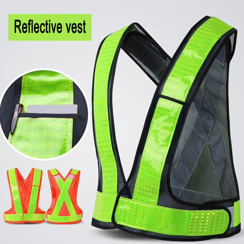 Adjustable Night Work Security Traffic or Cycling Safety Reflective Vest