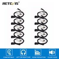 5r bf 10pcs Retevis PTT MIC ב-האוזן אוזניות אפרכסת מכשיר הקשר עבור KENWOOD Baofeng UV-5R BF-888s Retevis H777 HYT C9003A (1)