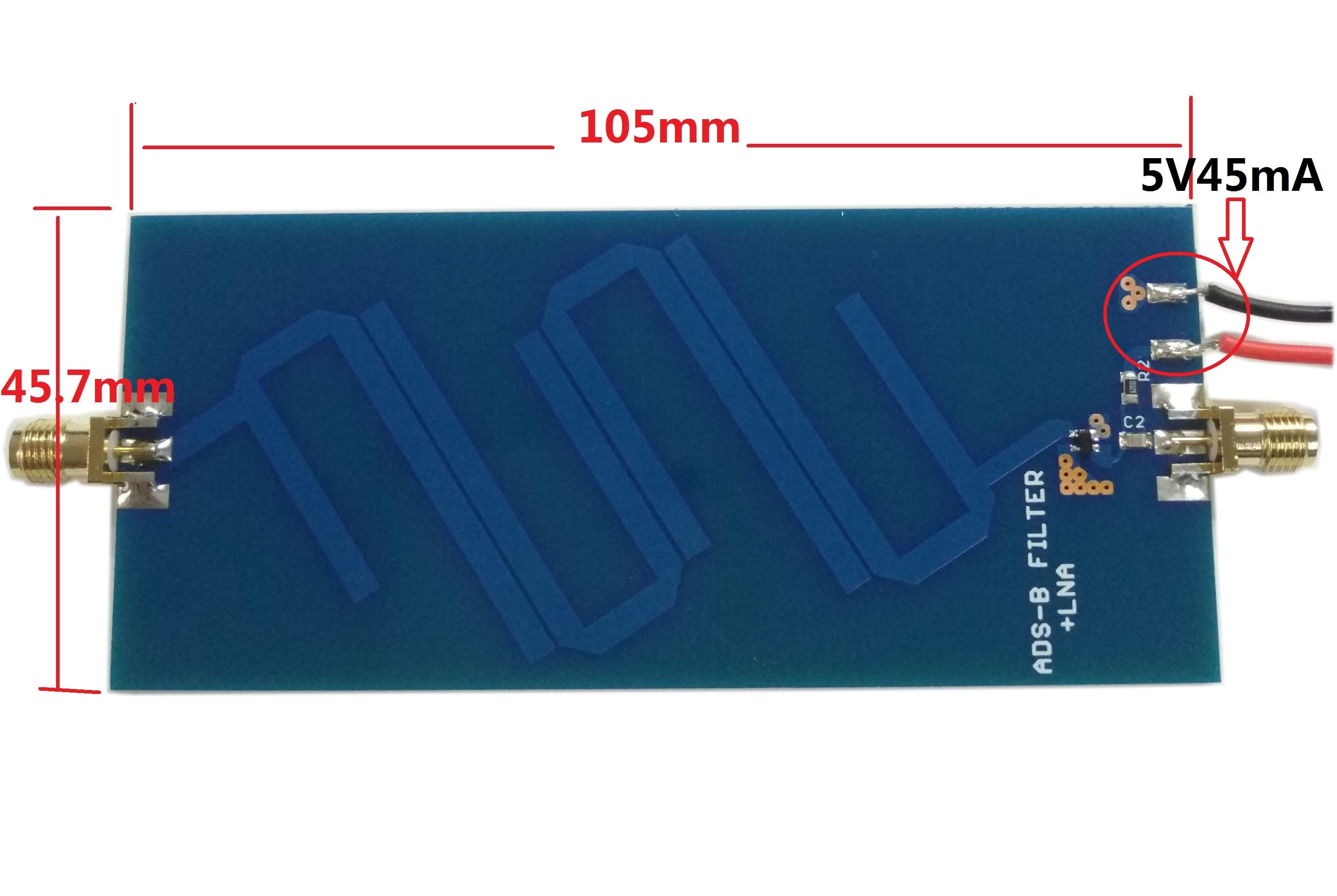ADS-B + LAN Filter ADS-B 1090 MHz Bandpass Filter