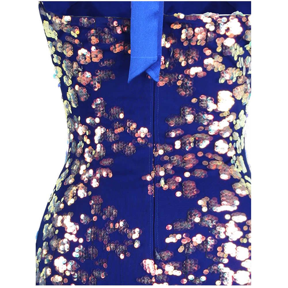 Thiên Thần-Thời Trang Dây Hoa Đầm Xếp Ly Nàng Tiên Cá Váy Đầm Dạ Dài Xẻ Cưới Đầm Dự Tiệc Màu Xanh 457