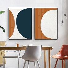 Escandinávia geométrica abstrata pintura em tela quadros de parede interior cartazes e impressões galeria sala estar decoração da sua casa