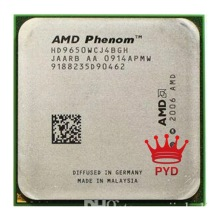 AMD Phenom X4 9650 HD9650WCJ4BGH 95W CPU 940 AM2 + 100% fonctionne correctement Processeur D'ordinateur De Bureau AM2 +