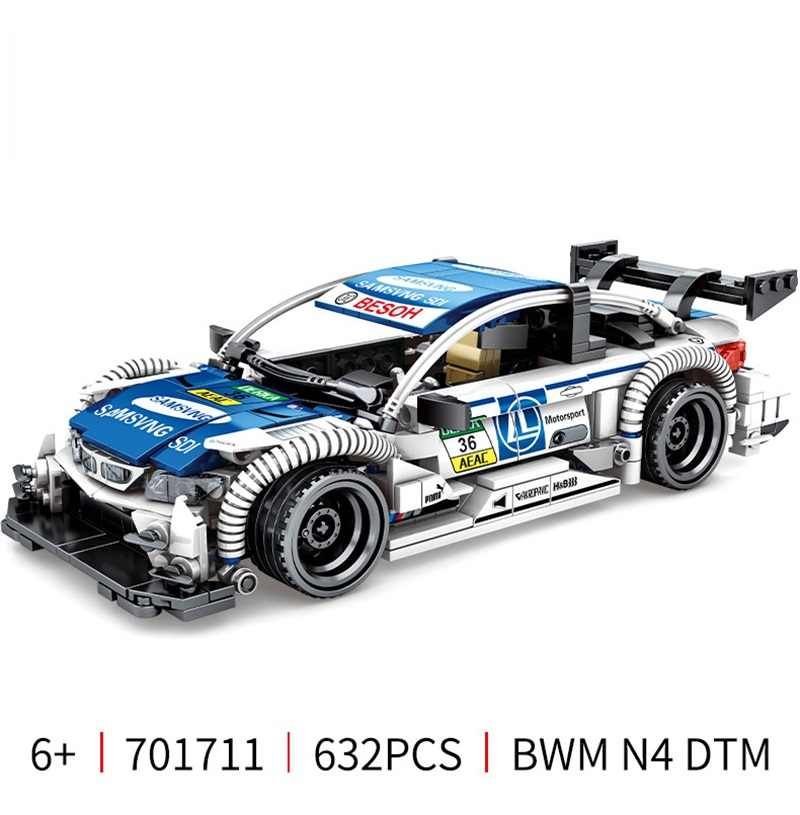 632 Pcs Sports Car Racing Building Blocks Technic City Vehicles Super Racers Sports Racing Car Model Building Blocks Toy For Kid
