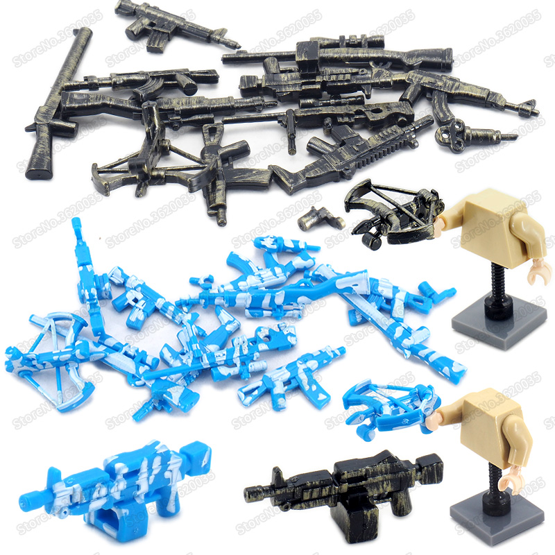 Legoinglys Military Camouflage Weapons Building BlockAssemble Diy World War 2 Special Figures Army Gun Model Fighting Gifts Toys