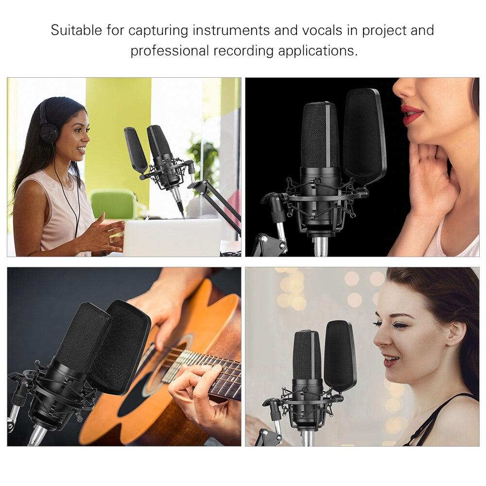 BOYA профессиональный большой микрофон Микрофон комплект с двухслойным поп-фильтром ударное крепление для певицы вокала домашняя студия зап...