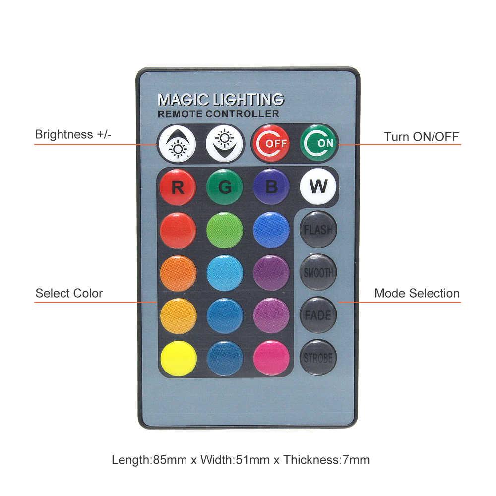Universal T10 RGB LED 5050 SMD Mobil Clearance Lampu 12V W5W Baji Sisi Auto Ekor Parking Lampu dengan Remote kontrol