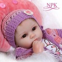 цена NPK soft silicone reborn baby doll toys lifelike 40cm vinyl reborn babies play house bedtime toy birthday gift for girl онлайн в 2017 году
