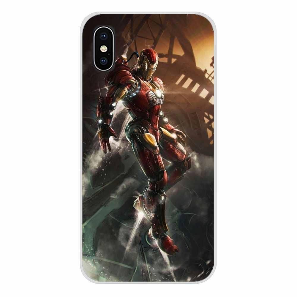 Super héroe Deadpool Iron Man de Marvel para Xiaomi mi 4 mi 5 mi 5S mi 6 mi A1 A2 A3 5X 6X 8 CC 9 T Lite SE Pro carcasa de silicona para teléfono móvil caso
