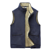 Warm Vest Winter Zipper Thick Male Autumn Fashion Casual Sleeveless New 5XL And Plus