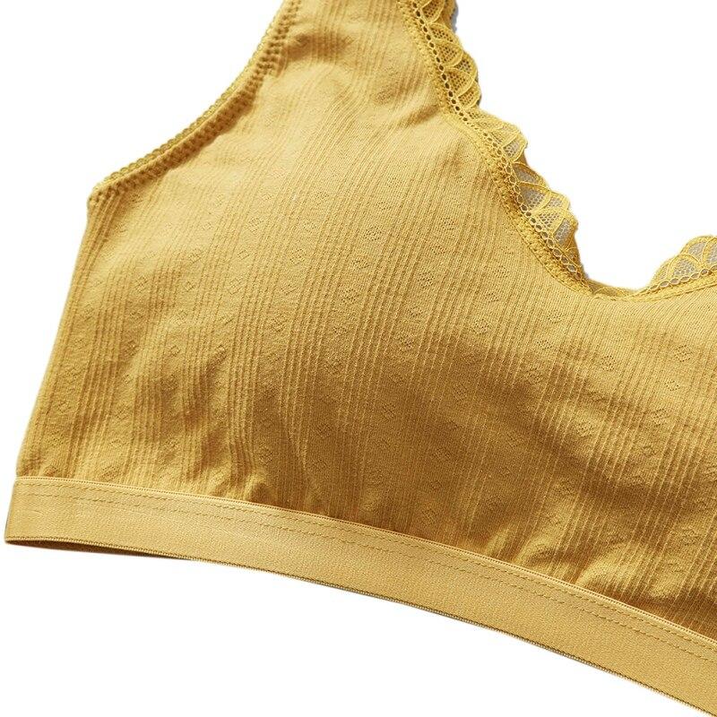 Stretch Vest Style Sports Bra Lace Beauty Back Tube Top Anti-lightning Wide Straps Without Steel Ring Sports Bra