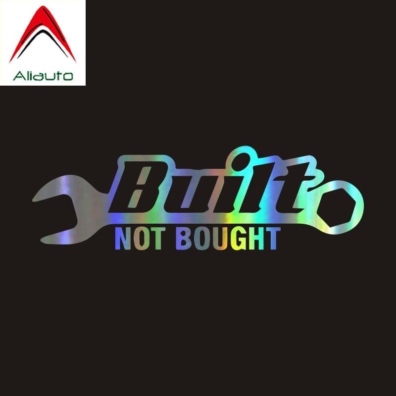 Aliauto индивидуальная лазерная наклейка для автомобиля, Built Not Bought, Аксессуары для автомобилей и мотоциклов, светоотражающая JDM наклейка из ПВХ...