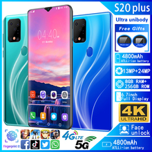 Mobile phones Galay S20plus 5G network 8GB RAM 128GB ROM Oct