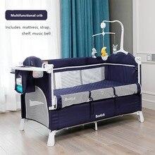 Cuna multifuncional, Cama grande, extraíble, portátil, plegable, para recién nacidos, cama de cabecera, cuna, cama