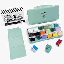 Gouache-Paint-Set Palette Jelly Artists-Paint Arrtx 18-Colors Cup-Design 30ml with Portable-Box