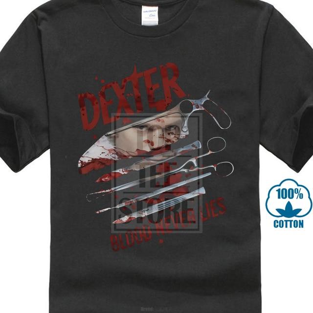 Showtime Dexter sang ne ment jamais sous licence adulte t-shirt 020572