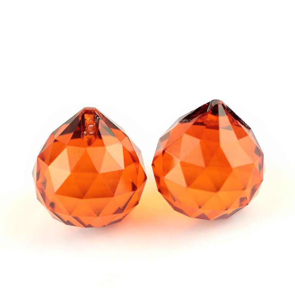 15mm-40mm K9 pryzmat szklany kulki DIY kulki Mix kolor kryształ wisiorki do żyrandola kurtyny akcesoria do dekoracji ślubnych