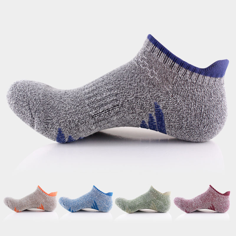 Fashion High Quality Outdoor Men Ankle Socks Cool Skateboard Happy Socks Male Compression With Towel Bottom 88