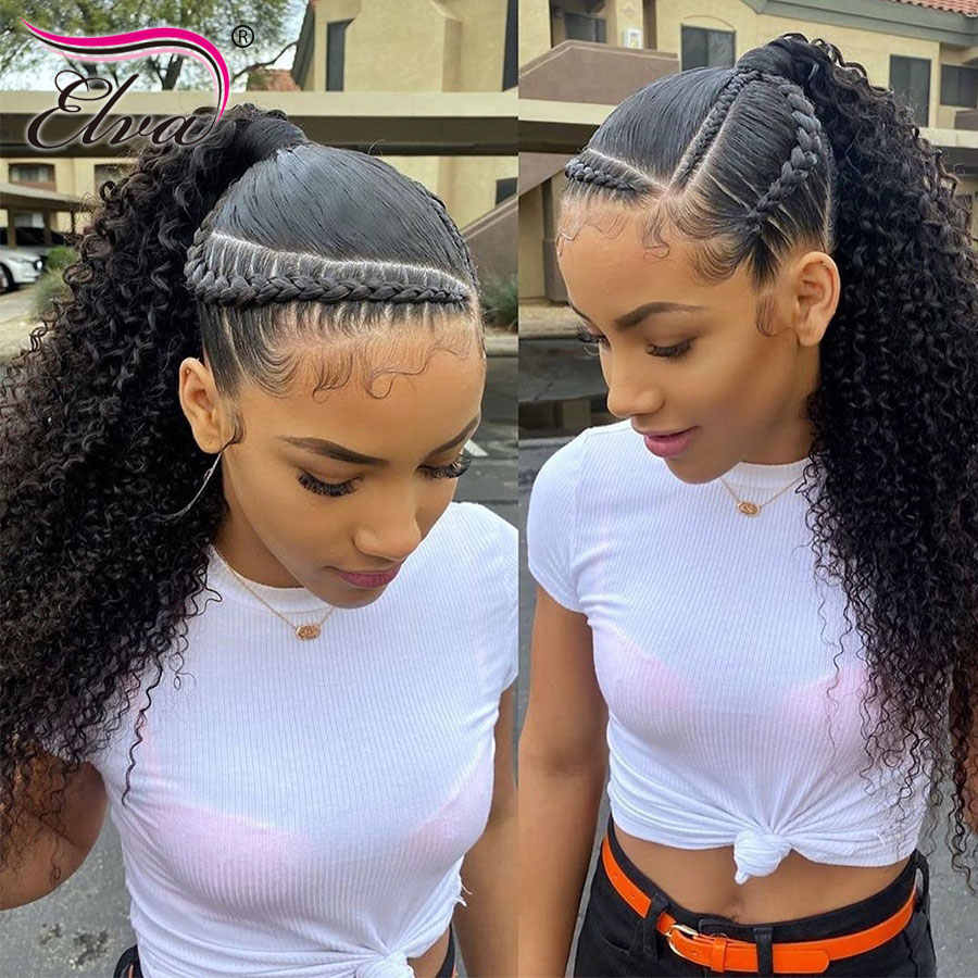 Deep Curly Lace Front Human Hair Wigs 13x6 Human Hair Wigs For Women Elva Hair Wigs Brazilian Hair Wigs Remy Hair Bleached Knots Wig Curly Wig With Baby Hairwig Withe Aliexpress