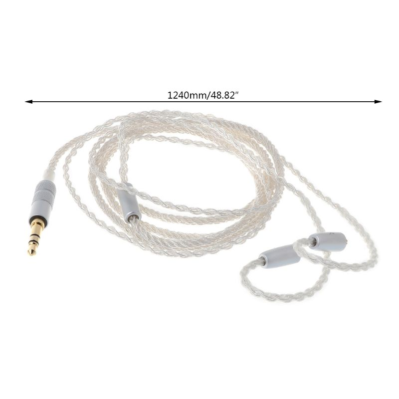 8 Twist Mmcx Headphone Cable Single Crystal Plated Wire Cord Diy for Se215 Se315 Se425 Se535 Se846 in Earphone Accessories from Consumer Electronics