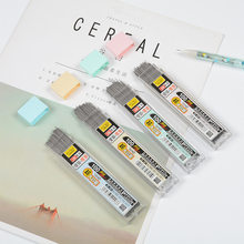 100 Pçs/caixa 2B Grafite Chumbo Lapiseira Refil Plástico Automático substituir Lápis de Chumbo 0.5,0.7 Promoção