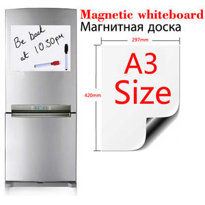 Magnetic Whiteboard Fridge Kitchen Soft Home Office A3-Size Flexible-Pad