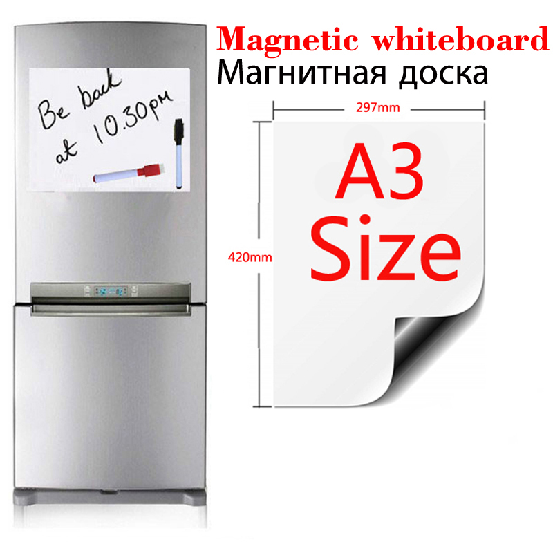 A3 Size Magnetic Whiteboard Soft Home Office Kitchen Magnet Dry Erase Board White Boards Flexible Pad Magnet Board Fridge