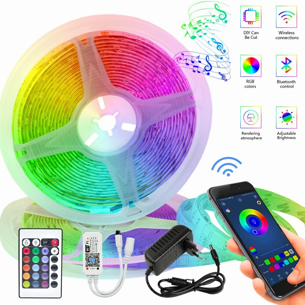 Светодиодный светильник полоски Водонепроницаемый инфракрасные 20 м Stuitable для внутреннего Атмосфера RGB светильник s 5 м 10 м светильник s Bluetooth ...