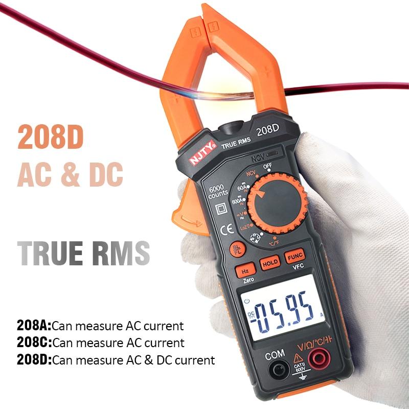 Digital Multimeter Clamp Meter 4000/6000 Counts Auto Range True RMS Amp DC/AC Current Clamp Tester Meters Voltmeter NCV Ohm Test