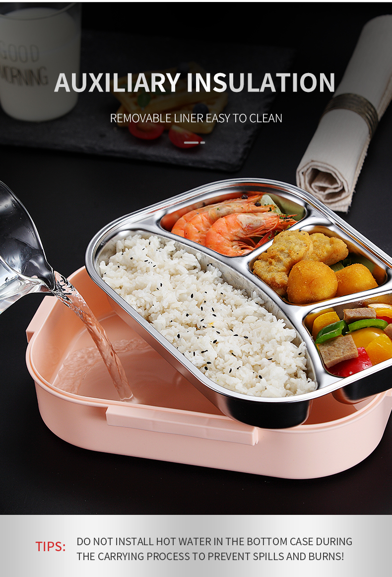 H93e2d5c880d841c28de588b27eac024db - WORTHBUY Japanese Kids Lunch Box 304 stainless steel Bento Lunch Box With Compartment Tableware Microwave Food Container Box