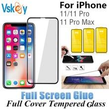 10pcs กาวหน้าจอกระจกนิรภัยสำหรับ iPhone 11 ป้องกันหน้าจอ iPhone 11 PRO MAX 6.5 นิ้ว 5.8in 6.1 ป้องกันฟิล์ม