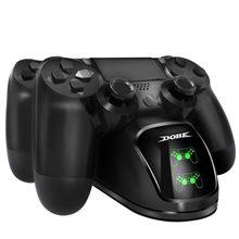 Doca de carregamento rápido controladores duplos carregador estação gamepad suporte base para playstation 4 ps4/pro/magro