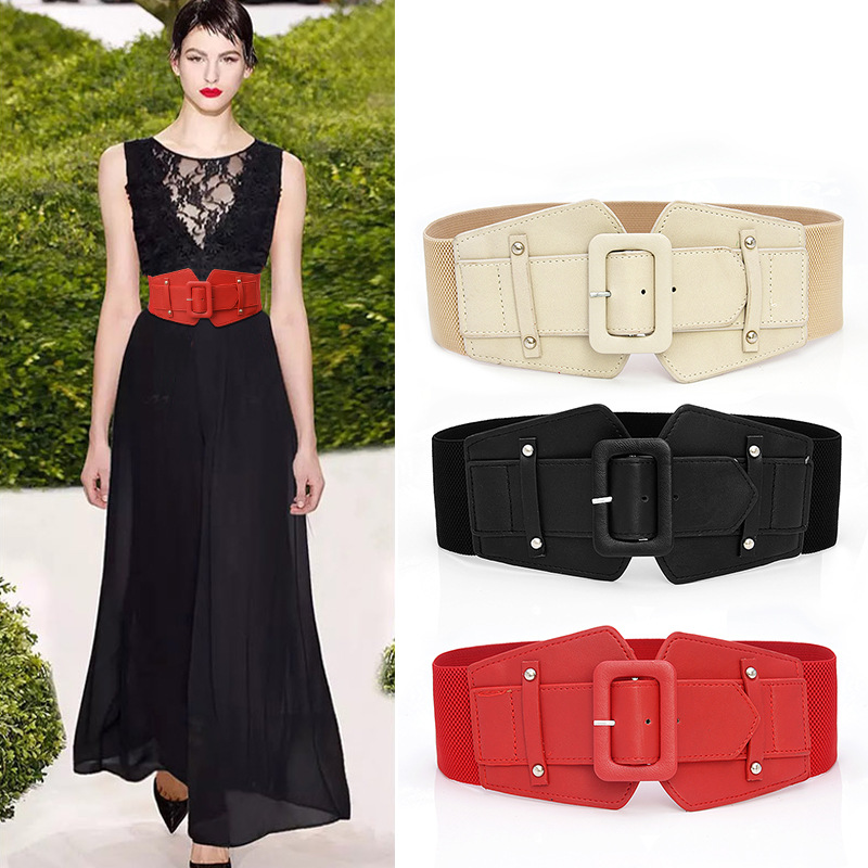 Fashion Women Stretch Elastic Wide Corset Waist Belts  Fashion Female Apparel Accessories Dress Waistband Waist Seal Women