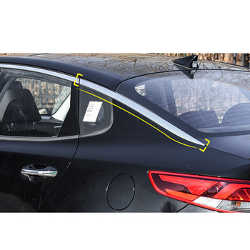 Lsrtw2017 Abs Car Rear Window Stri Trims Car Styling for Kia K5 Optima 2016 2017 2018 2019 2020 Interior Mouldings Accessories