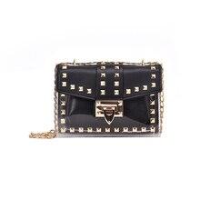 Hot selling luxury brand female transparent bag PVC jelly small crossbody Messenger shoulder 2019