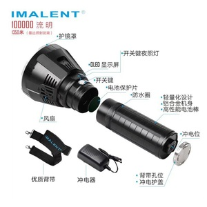 Image 5 - IMALENT MS18 LED Flashlight CREE XHP70.2 Waterproof Recharge Flash light with 21700 Battery + OLED Display Intelligent Charging
