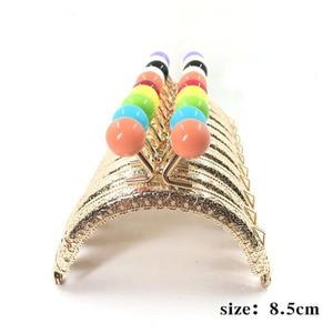 Image 2 - 30 pcs/20 pcs/10 pcs 8.5CM Candy head Bag Kiss Sluiting zilveren halve cirkel Metalen Coining Patroon purse Frame DIY Bag Naaien Accessoires