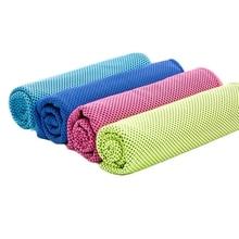4 шт., охлаждающее полотенце, охлаждающее полотенце, набор, мгновенное облегчение, ледяное холодное, прохладное полотенце, дышащая сетка, впитывающее пот, для фитнеса, спортзала, гольфа, йога