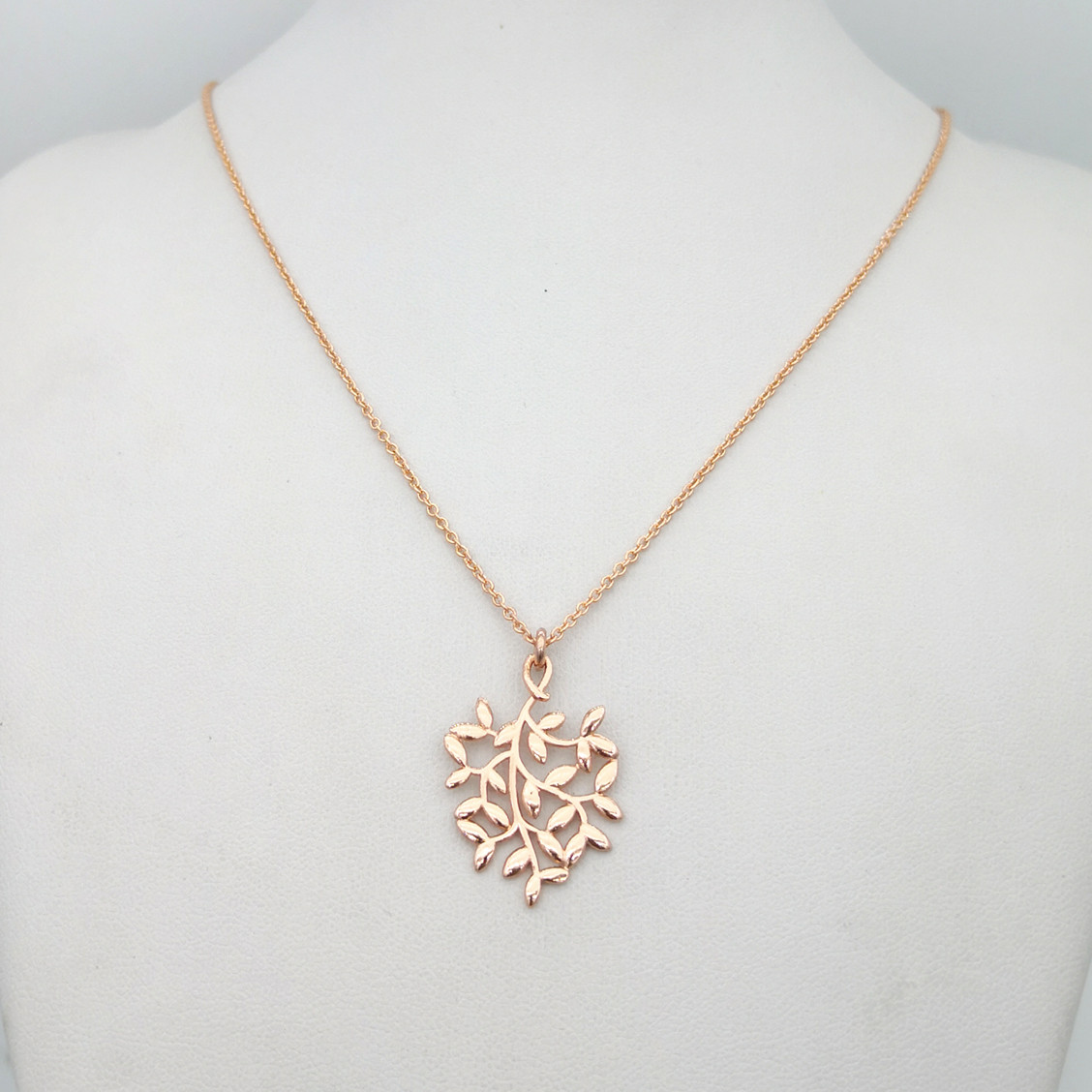 Mrs Sterling silver original classic rose gold plant olive leaves necklace pendant lovers festival gift necklace jewelry