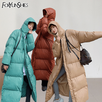 Woman Parkas Plus Size Winter Hooded Warm Thick Long Bubble Puffer Jacket 2020 Fashion Cotton Padded Loose Water Wind Proof Coat