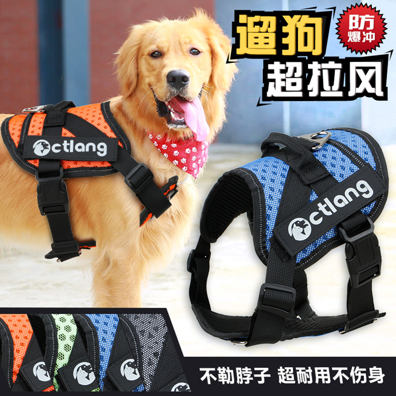 T New Style And Medium-sized Dog Chest And Back With Strong Breathable Pet Nursing Traction Chest And Back