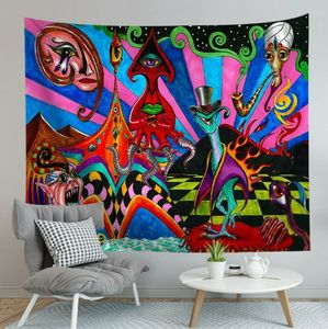 Punk Style Tapestry Art Wall Hanging Hippie Living Room Tapestry Decor New Year
