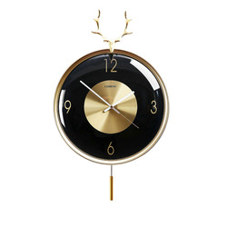 Nordic cichy luksusowy zegar ścienny drobna miedź głowa jelenia zegary nowoczesny twórczy złoty zegary ścienne Home Decor prezent do salonu D106