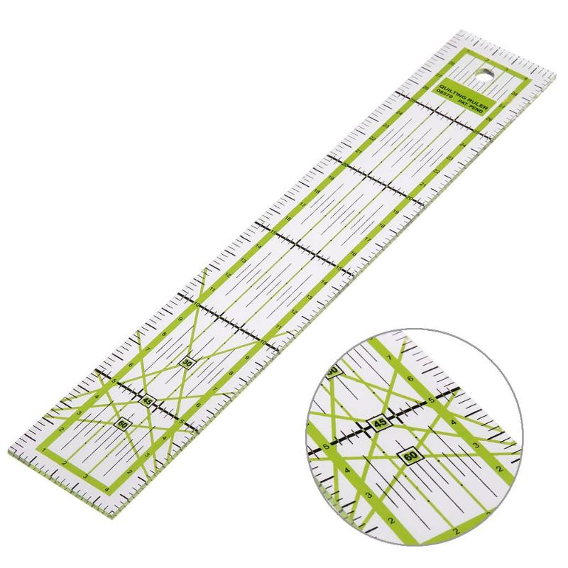 5x30cm Sewing Patchwork Quilting Ruler Plastic Garment Cutting Craft Scale Ruler Drawing Stationery Supplies Tool 21.5x21.5cm
