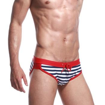 SEOBEAN New Style Men Classic Stripes Swimming Trunks Hot Springs Swimming Pool Swimming Trunks Men