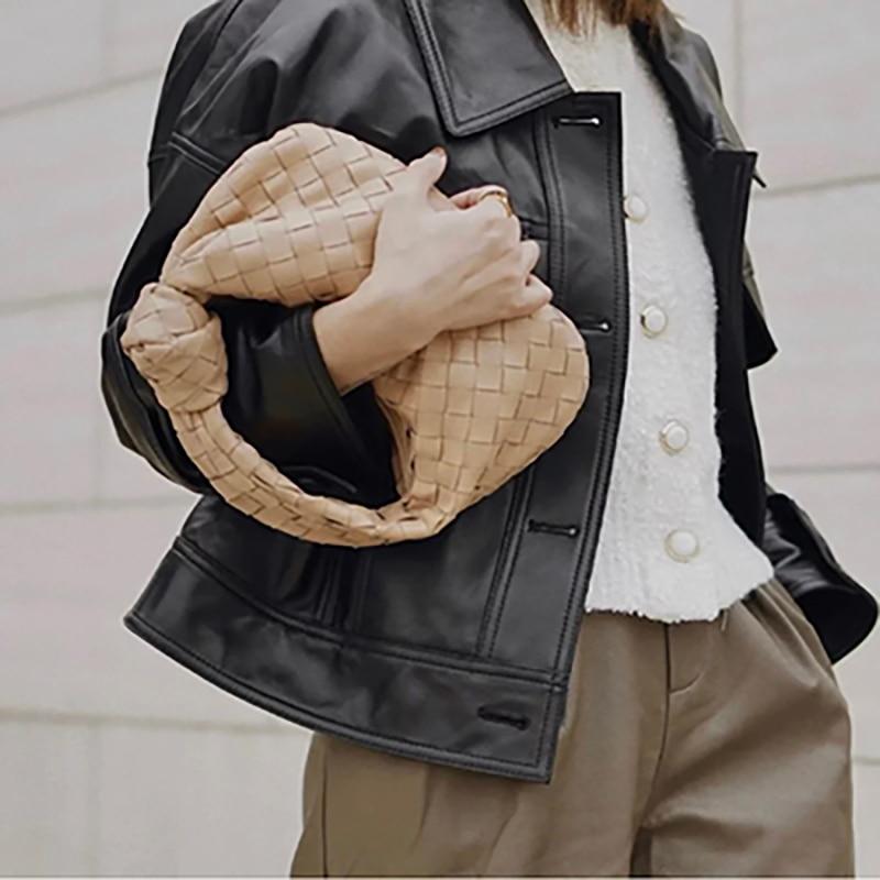 Модная сумка, новинка 2021, кожаная модная Натуральная маленькая сумка для благовоний, сумка для пельменей, сумка для французских подмышек, пл...