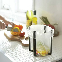 Desktop Folding Garbage Rack Japanese Kitchen Storage Household Items Creative Iron